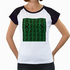 Abstract Pattern Graphic Lines Women s Cap Sleeve T