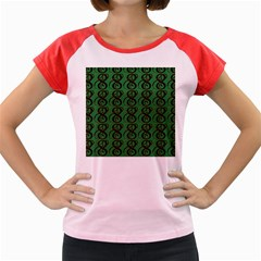 Abstract Pattern Graphic Lines Women s Cap Sleeve T Shirt