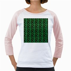 Abstract Pattern Graphic Lines Girly Raglans