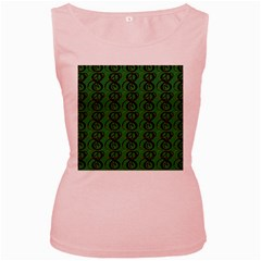 Abstract Pattern Graphic Lines Women s Pink Tank Top