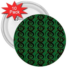 Abstract Pattern Graphic Lines 3  Buttons (10 pack)