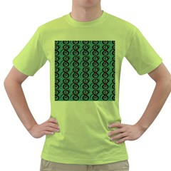 Abstract Pattern Graphic Lines Green T Shirt