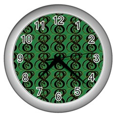 Abstract Pattern Graphic Lines Wall Clocks (Silver)
