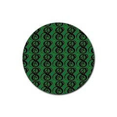 Abstract Pattern Graphic Lines Rubber Round Coaster (4 Pack)
