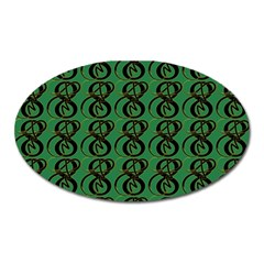 Abstract Pattern Graphic Lines Oval Magnet