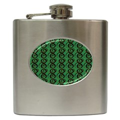 Abstract Pattern Graphic Lines Hip Flask (6 oz)