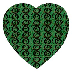 Abstract Pattern Graphic Lines Jigsaw Puzzle (Heart)