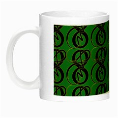 Abstract Pattern Graphic Lines Night Luminous Mugs