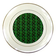 Abstract Pattern Graphic Lines Porcelain Plates