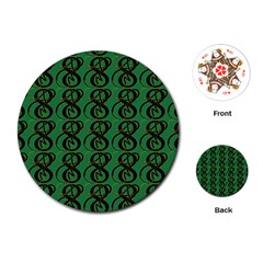 Abstract Pattern Graphic Lines Playing Cards (round)