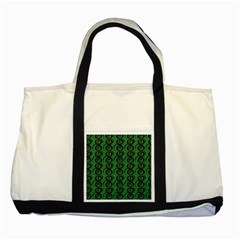Abstract Pattern Graphic Lines Two Tone Tote Bag