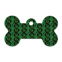 Abstract Pattern Graphic Lines Dog Tag Bone (One Side)