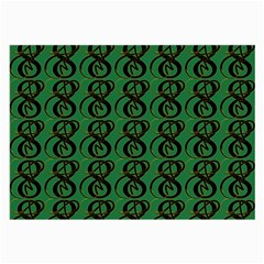 Abstract Pattern Graphic Lines Large Glasses Cloth (2 Side)
