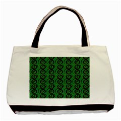 Abstract Pattern Graphic Lines Basic Tote Bag (Two Sides)