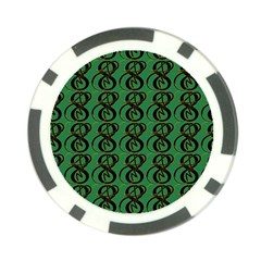 Abstract Pattern Graphic Lines Poker Chip Card Guard