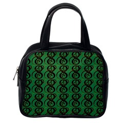 Abstract Pattern Graphic Lines Classic Handbags (one Side)