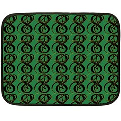 Abstract Pattern Graphic Lines Double Sided Fleece Blanket (mini)