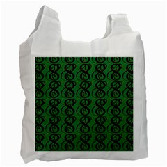 Abstract Pattern Graphic Lines Recycle Bag (two Side)