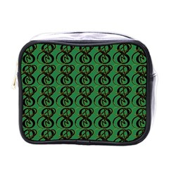 Abstract Pattern Graphic Lines Mini Toiletries Bags