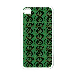Abstract Pattern Graphic Lines Apple Iphone 4 Case (white)