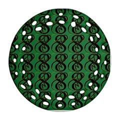 Abstract Pattern Graphic Lines Round Filigree Ornament (two Sides)