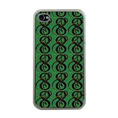 Abstract Pattern Graphic Lines Apple Iphone 4 Case (clear)