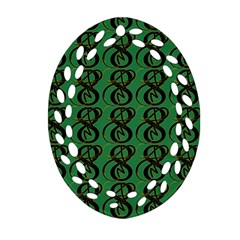 Abstract Pattern Graphic Lines Oval Filigree Ornament (two Sides)