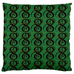 Abstract Pattern Graphic Lines Large Cushion Case (Two Sides)