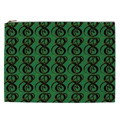 Abstract Pattern Graphic Lines Cosmetic Bag (xxl)