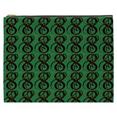 Abstract Pattern Graphic Lines Cosmetic Bag (xxxl)