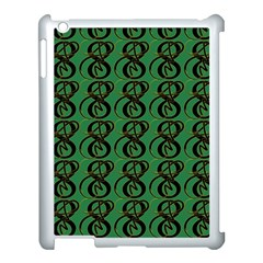 Abstract Pattern Graphic Lines Apple iPad 3/4 Case (White)