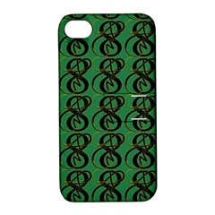 Abstract Pattern Graphic Lines Apple Iphone 4/4s Hardshell Case With Stand