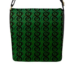 Abstract Pattern Graphic Lines Flap Messenger Bag (l)