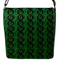 Abstract Pattern Graphic Lines Flap Messenger Bag (S)