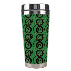 Abstract Pattern Graphic Lines Stainless Steel Travel Tumblers