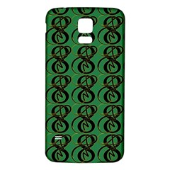 Abstract Pattern Graphic Lines Samsung Galaxy S5 Back Case (white)