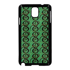Abstract Pattern Graphic Lines Samsung Galaxy Note 3 Neo Hardshell Case (black)