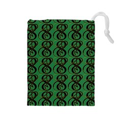 Abstract Pattern Graphic Lines Drawstring Pouches (large)