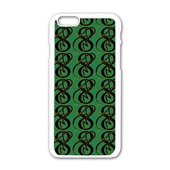 Abstract Pattern Graphic Lines Apple Iphone 6/6s White Enamel Case