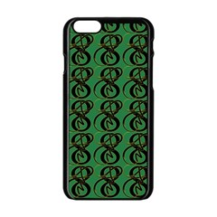 Abstract Pattern Graphic Lines Apple iPhone 6/6S Black Enamel Case