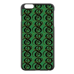 Abstract Pattern Graphic Lines Apple Iphone 6 Plus/6s Plus Black Enamel Case