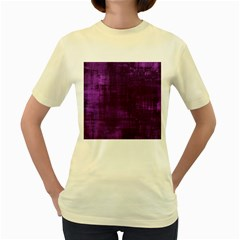 Background Wallpaper Paint Lines Women s Yellow T-Shirt