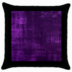 Background Wallpaper Paint Lines Throw Pillow Case (Black)