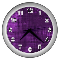 Background Wallpaper Paint Lines Wall Clocks (silver)