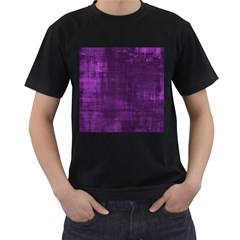 Background Wallpaper Paint Lines Men s T Shirt (black) (two Sided)