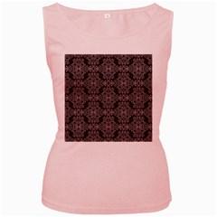 Line Geometry Pattern Geometric Women s Pink Tank Top