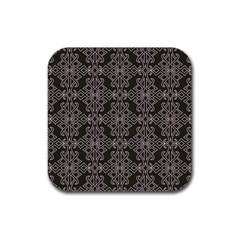 Line Geometry Pattern Geometric Rubber Square Coaster (4 Pack)
