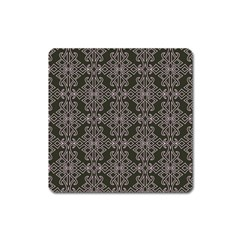 Line Geometry Pattern Geometric Square Magnet