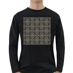 Line Geometry Pattern Geometric Long Sleeve Dark T Shirts