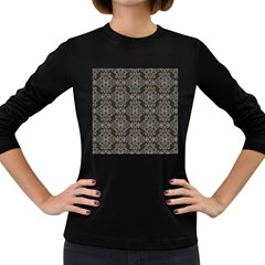 Line Geometry Pattern Geometric Women s Long Sleeve Dark T Shirts